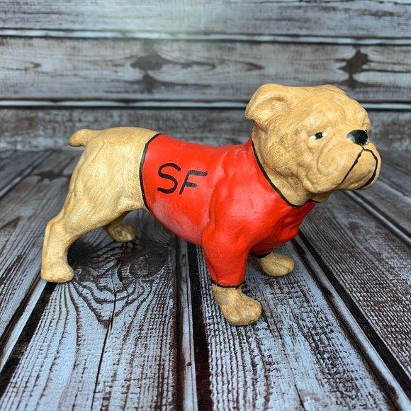 Vintage SF Bulldog with Red Shirt Figure